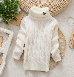 Wholesale Cardigan Sale Baby Girl - Wholesale-2015 Hot Sale New Brand Autumn-Winter Fashion Baby Girls&Boys Sweater Solid Long Sleeve With Cute Cartoon Warm Thicking