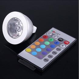 Canada 3W 4W 12V MR16 GU5.3 Socle LED RGB Ampoule spot 16 Changement de couleur + Effet mémoire de la télécommande infrarouge à 24 touches Livraison gratuite Offre