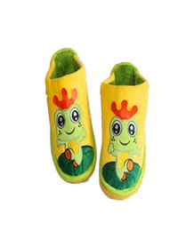 Wholesale Frog Shoes - Wholesale-children's slippers Cute Little Frog Cartoon Horse Shoes, Home Plush Cotton Slippers Winter Home Manufacturers TCCS6005