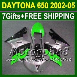 Wholesale Triumph Race Fairing - 7gifts For Triumph 2002-2005 Daytona 650 Not racing green silver Daytona650 25P240 Triumph650 650 2002 2003 2004 2005 02 03 04 05 Fairing