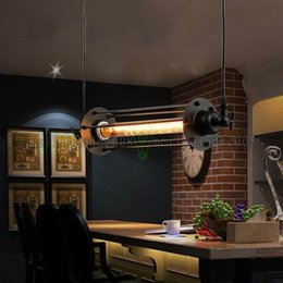 Wholesale Chandelier Black Light Bulbs - Details about Industrial Retro Vintage Flute Pendant Lamp Chandeliers Kitchen Bar Hanging Ceiling Light Edison Bulb included LLWA029