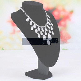 Wholesale Mannequin Jewelry Holders - Wholesale-Hot Sale Free Shipping Black Mannequin Necklace Jewelry Pendant Display Stand Bust Holder Show ASAF