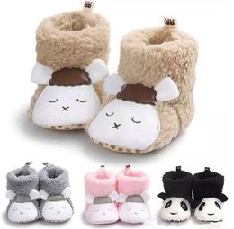 Wholesale Baby Girl Crib Boots - 6colours Newborn Baby Winter Boots Shoes Crib Girls Boys Kids First Walkers Fleece Super Keep Warm Snowfield boots shoes B11