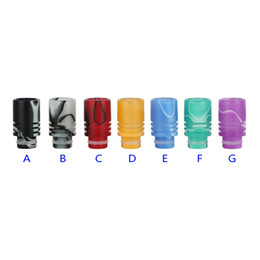 Wholesale Pyrex Dct - Wide bore drip tips Pyrex glass Resin drip tip mouthpieces for ego atomizer RDA vaporize aluminum EVOD DCT CE4 CE5 protank clearomizer