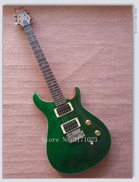 Wholesale Cheap Guitar Strings China - Green Flame Top Electric Guitar Anniversary High Quality China Guitars Best OEM Cheap