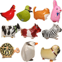 Wholesale Pet Balloon Wholesale - Christmas gifts 20pc lot walking pet Aluminum air balloon toy inflatable ball animal ballon for kids birthday party decorations supplies