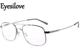 Wholesale Bridge Sale - Hot sale Pilot-style Memory Titanium Metal Flexible Bridge Temple Prescription Optical Glasses Eyeglass Frames