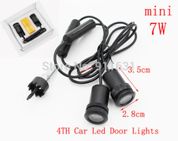 Wholesale Ghost Shadow Lights Vw - 2PCS X 4th Car Led Door Light for Toyota VW ford Nissan BMW audi Buick Led Logo Projector Ghost Shadow 3D Welcome Light IP65