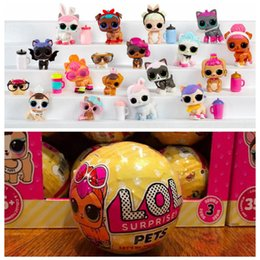 Wholesale Pet Plastic Packaging - LOL Surprise Doll Series 3 Toys LOL Pets Ball Surprise Egg Toy 10cm Action Figures Without Package OOA3795