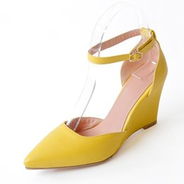 Wholesale Pointy Wedges - pointy toe wedges heels sandas summer ankle wrap shoes