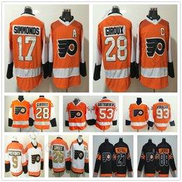 Wholesale Hockey Flyer - 2018 New Season Philadelphia Flyers #28 Claude Giroux 11 Travis Konecny 17 Wayne Simmonds 53 Shayne Gostisbehere 93 Jakub Voracek Jersey