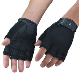 Wholesale Exercise Equipment For Gyms - Wholesale-Weight Lifting Crossfit Gym Gloves for men and women fitness exercise equipment sports gloves half finger slip weightlifting