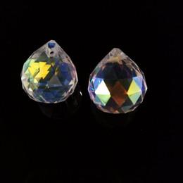 Wholesale Wholesale Shoe Parts - part 20pieces 20mm AB Crystal Faceted Ball Glass Chandelier Prism Pendant Part For Chandelier Feng Shui Ball