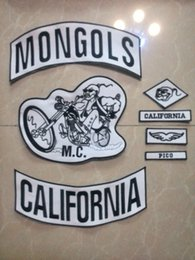 Wholesale Motorcycle Customs - Biker Mongols Patches For Jacket Custom Patch Motorcycle Vest Patches Mc Patches