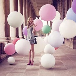 Wholesale Cheap Ballons - Cheap 36 Inch Wedding Ballon Large Size Wedding Decorations Birthday Party Ballons Thickening Latex Giant Huge Balloon Factory Wholesale