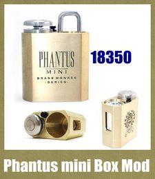 atomizzatori mech mods Sconti Phantus mini box mod vape mod ottone scimmia per 18350 batteria mech mod vapor vaping meccanico mod fit rda atomizzatore TZ382
