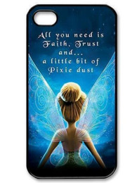 Wholesale Tinkerbell Iphone 5s Case - New Cute Tinkerbell Fairies Hard Plastic Mobile Phone Case Cover For Iphone 4 4S 5 5S 5C 6 6 Plus