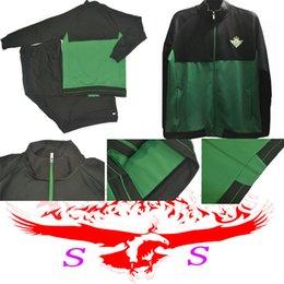 Wholesale Letter Train - 2017 2018 Real betis Soccer Jacket Kit Joaquin Sanabria Soccer Jacket Kits 17 18 Real betis Football training jackets Kits