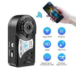 Wholesale Infrared Motion Sensor Mini - Q8 Mini Wifi IP Camera 720P HD Wireless Mini Camera Infrared Night Vision DV DVR Camera Motion Sensor Mini Camcorder