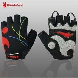 Wholesale Shock Racing Gloves - Bicycle Half Finger Gloves Summer Breathable Mesh Half Finger Cycling Gloves Super-Elastic Lycra Breathable Shock Absorption