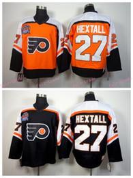 ... Philadelphia Flyers 1998 Ron Hextall Throwback Hockey Jerseys Cheap  Orange Black CCM Vintage 27 Ron ... 03439ecfb