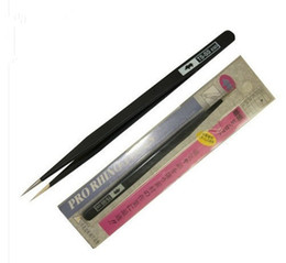 Wholesale Nose Slimmer - wholesale Anti-Static Stainless Straight Extra Fine Point Slim Tweezer Tools BLACK