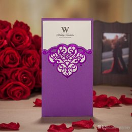Wholesale House Blank - Creative Personality Wedding Invitations Laser Cutting Invitation Card for Wedding Blank Inner Sheet Hollow Birthday Invitations