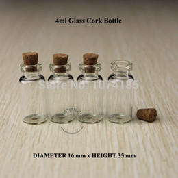 Wholesale Test Tube Pendant - 100x 4ml Mini small glass bottles vials jars with corks stoppers decorative corked glass test tube bottle with cork for pendants