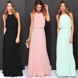 Wholesale ladies summer clothes sale - Top Sale 2018 Sexy Women Summer Beach Long Maxi Evening Cocktail Party Chiffon Clothing Women Ladies Dress 2018