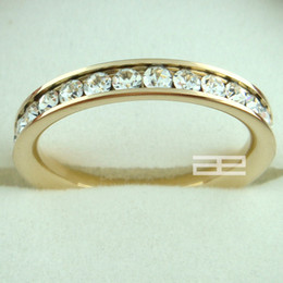 Wholesale 9k Rings - 9K 9CT Gold FILLED WITH Swarovski Crystals RING R21 SIZE 6-7