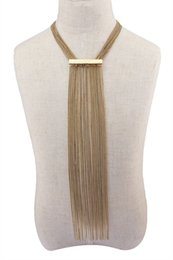 Wholesale Silver S Choker Necklace - New fashion style gold silver plated multilayer tassel chain pendant necklace for women jewelry SKU:N-5904-G,N-5904-S