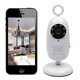 Wholesale Ip Phone Intercom - 2.4GHz Wireless WIFI Video Surveillance baby monitor Remote Viewing android Smart Phone Tablet Wifi Baby IR Night Vision Camera