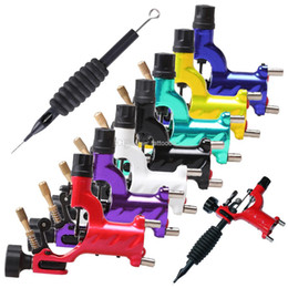Wholesale Tatoo Grips - Dragonfly Tattoo Machine Guns Shader & Liner Rotary Motor Tattoo Gun 7 Colors Assorted Tatoo Motor Gun Grips Cheap Price Free Shipping DHL