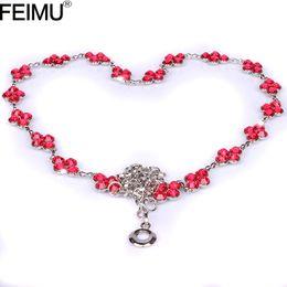 Wholesale Decorative Chain Metal Belt - feimu child rhinestone metal waist chain diamond thin belt, Ms. belt with small decorative diamond dress with accessories