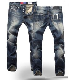 Wholesale new designer jeans for men - new spring autumn men jeans High Quanlity famous brand blue denim designer high quality ripped jeans for men classic retro David Beckham