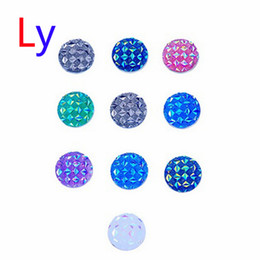Wholesale Porcelain Dancing - wholesale! Triangle Multicolor Mix Flickering Resin Rhinestone Button Dance Costumes DIY Headgear Accessories chunk Jewelry AC051