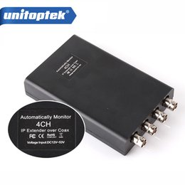 Wholesale Camera Amplifier - 4CH HD NETWORK Coaxial Extender IP Camera Netcom Signal Transmission Amplifier a Cable Can Extend 2500 Meters,with Auto-Monitor