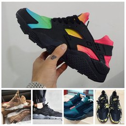 Wholesale Rainbow Shoes Sale - 2017 Sale Airs Huarache Ultra Men Women Running Shoes for Cheap High quality Customise Huaraches Rainbow ID Trainers Sneakers Size 36-46