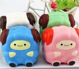 Wholesale Craft Keyrings - New 12CM Soft Colossal Squishy Sheep Cream Scented Slow Rising Kids Toy Phone Straps Keyring Gift Craft Decoration P0.11
