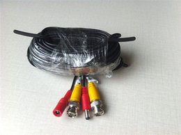 Argentina Cable BNC de potencia de envío gratuito de 18M 60FT con conectores BNC y DC para CCTV DVR y cámaras Suministro