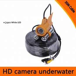 Wholesale Nightvision Underwater Camera - 20M   30M Cable Underwater Video Camera Fish Finder 600TVL CCD Camera 24pcs White LED Lights Nightvision Fishing Finder