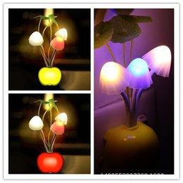 Wholesale Led Avatar Mushroom Light - Wholesale-HOT Avatar Round Head Plug Electric Induction Dream Mushroom Fungus Lamp,LED Lamp 220V 3 LEDs,Mushroom Lighting led night lights