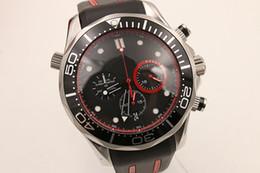 Relógios de pulso elegantes homens on-line-Venda quente Elegante Quartz Cronômetro Relógio de Pulso dos homens Ti3 Rosto Preto Rubber Band America's Club Relógio Masculino Profissional