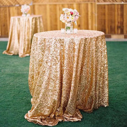 Wholesale Doctor Cloth - Bling Bling Rose Gold Sequin Table Covers Wedding Sequin Table Cloth for Weddings In Stock Wholesale Sparkly Champagne Table Sequin Linens