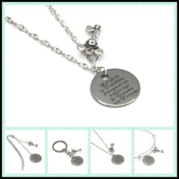 Wholesale Forever Pendants - 12pcs lot Laughter is timeless, Imagination has no age and Dreams are Forever necklace bracelet keyring bookmark mouse key
