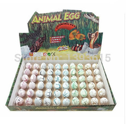 Wholesale Hatching Dinosaur Toy - Wholesale-240pcs lot Novel Water Hatching Inflation Dinosaur Egg Watercolor Cracks Grow Egg Educational Toys Gift Free Shipping