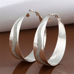 Wholesale Hoop Earring Supplies Wholesale - 2016 Female Elegant Round Shape Fashionable Silver-Plated Earrings Hoop for Gifts supplies earrings fashion high Hot Selling