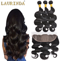 Wholesale Modern Hair Show - Brazilian Virgin Body Wave 3 Bundles with Lace Frontal Closure Unprocessed Brazilian Human Hair Bundles with Frontal Modern Show Hair