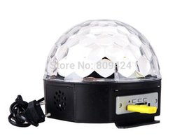 Wholesale Ktv Room Decoration - Wholesale-1PC 18W MP3 LED crystal ball disco laser light mini laser remote control for KTV, Dance Room, Bar, Stage, Club, Home Decoration