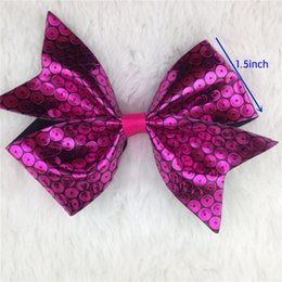 Wholesale Baby Accessoires - New 4inch sequin leather boutique hair bow for baby girl PU leathe WITHOUT CLIP for hair accessoires 20pcs lotr hair bow